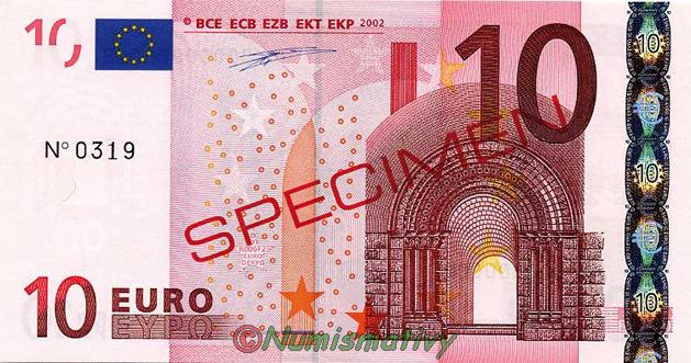 Billets Euro Specimen Avec Signes De Securites