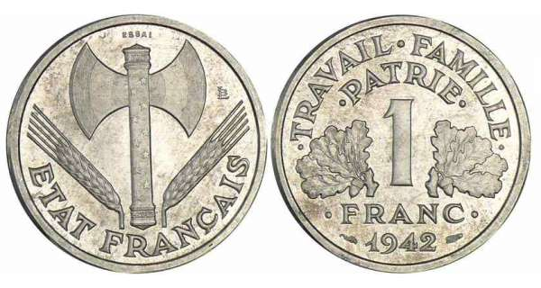 piece franc rare